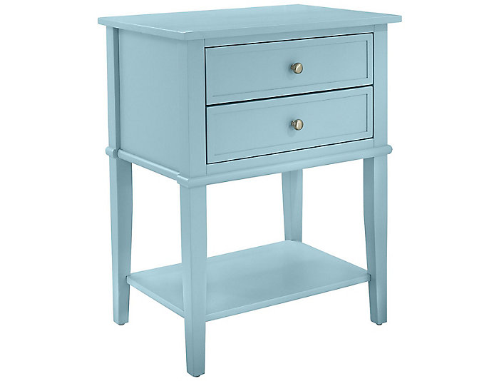Franklin Blue Accent Table, , large