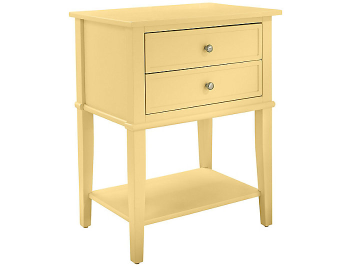 Franklin Yellow Accent Table, , large