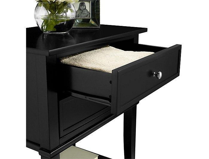 Franklin Black Accent Table, , large