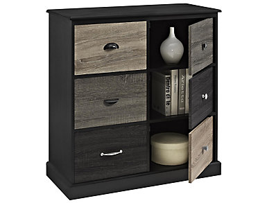 Ivy Black Storage Cabinet, , large