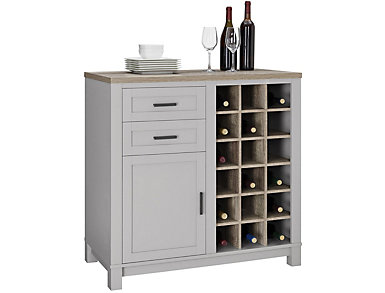 Carver Gray Bar Cabinet Gray, , large