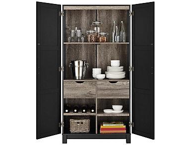 "Brody 64"" Black Storage Cabinet, Black, large"