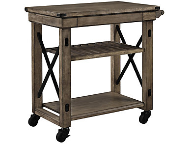 Wildwood Gray Rolling Cart, , large