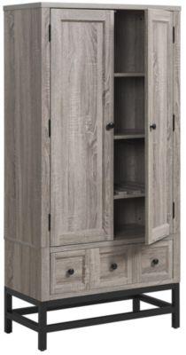 Barrett Oak Beverage Cabinet