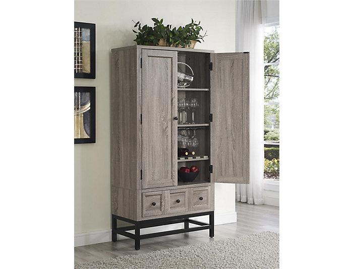 Barrett Oak Beverage Cabinet, , large