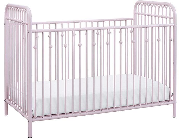 Ivy Pink Metal Crib, , large