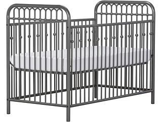 Ivy Gray Metal Crib, , large