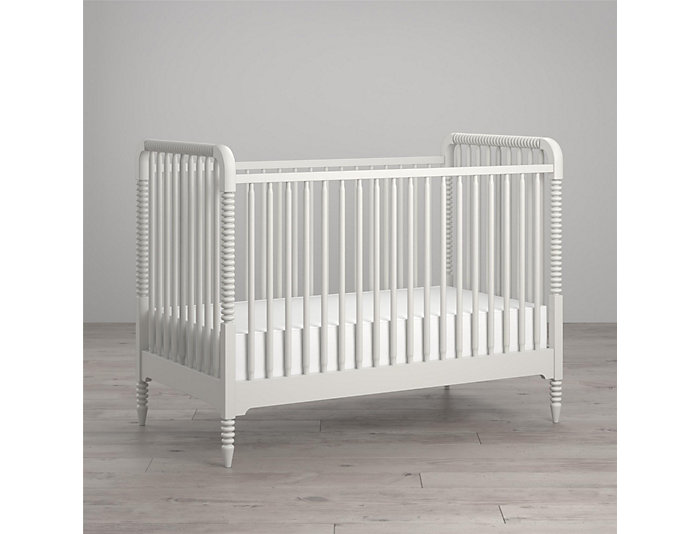 Linden White Crib, , large