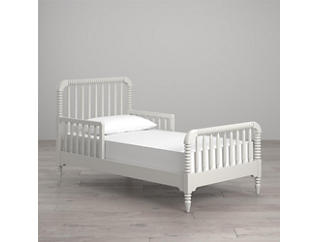 Linden White Toddler Bed, , large