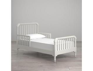 Linden White Toddler Bed, , large