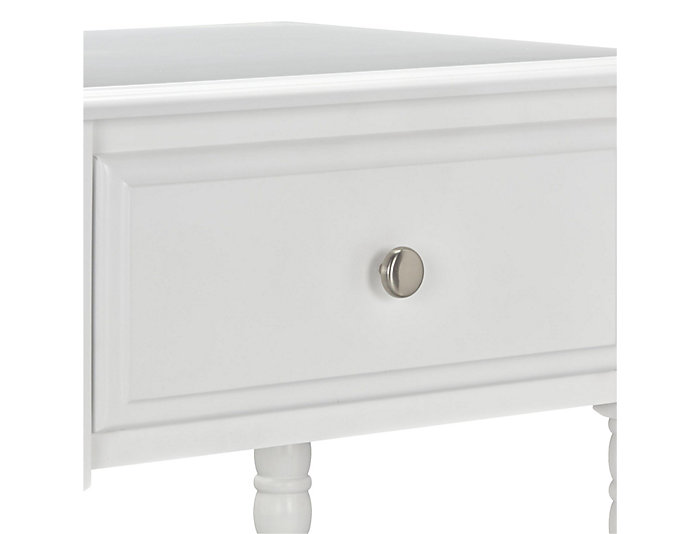 Linden White Nightstand, , large