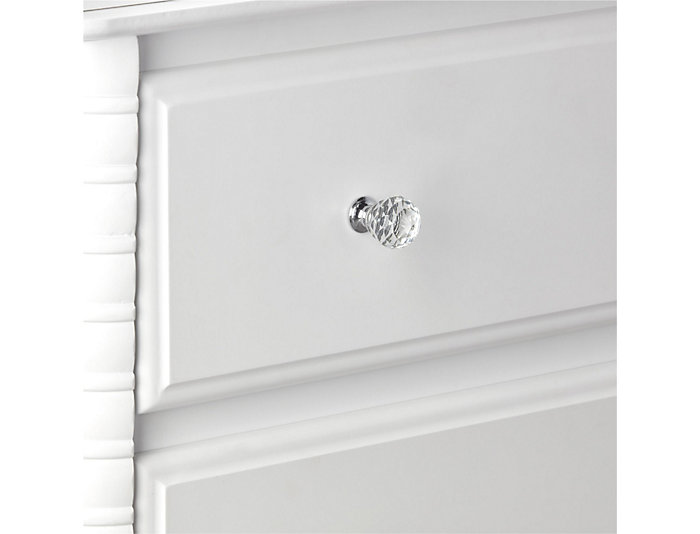 Linden White 3-Drawer Dresser, , large