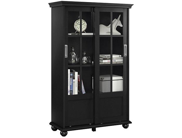 "Aaron Lane 51"" Black Bookcase, , large"