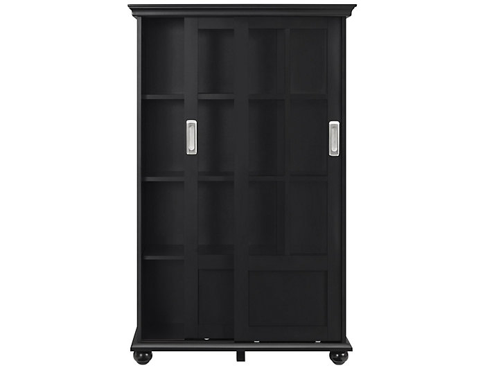"Aaron Lane 51"" Black Bookcase, , large"