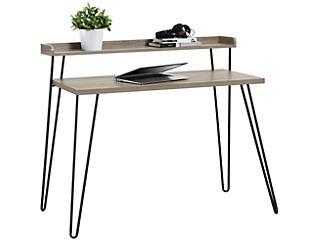 Haven Oak Desk With Riser, , large