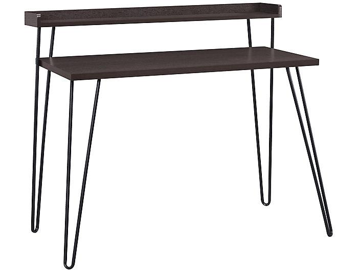 Haven Espresso Desk With Riser, , large