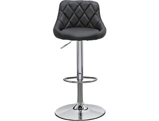 Zila Black Gas Lift Barstool, , large