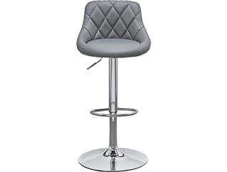 Zila White Gas Lift Barstool, Grey, large