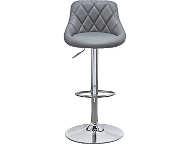 Gas Lift Stool, Grey, large