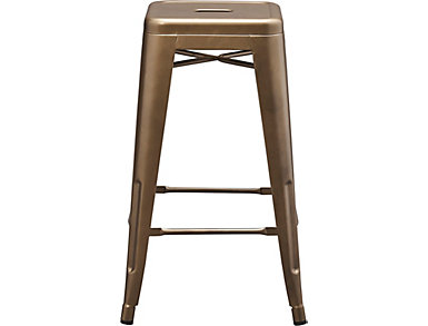Metal Copper Counter stool, Gold, large