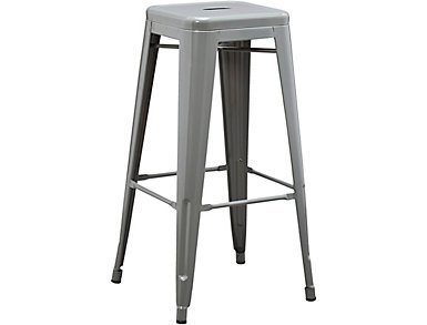Metal Grey Barstool, , large