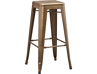 Metal Copper Barstool, , large