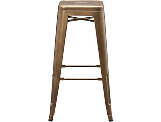 Tessa Metal Copper Counter Stool, Gold, large
