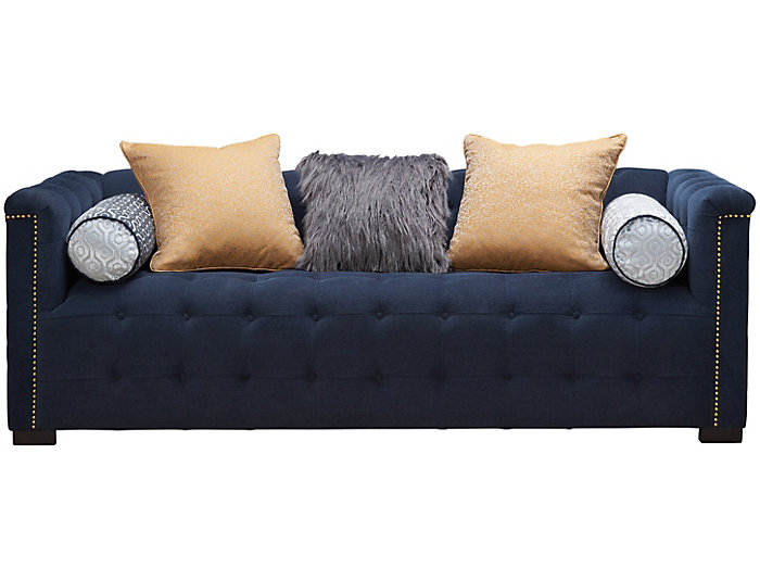 Hugh Sofa Navy Large