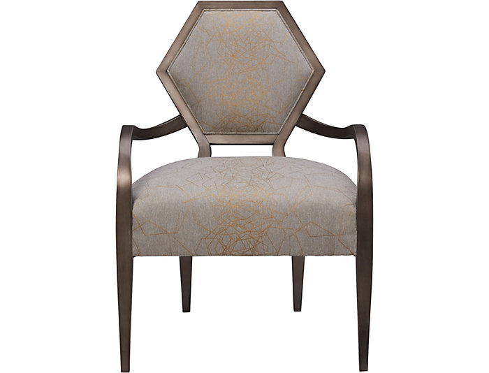 Geode Mica Accent Chair, Grey, Grey, large
