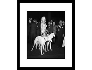 Jayne W/ Dog 28x32 Frame Photo, , large