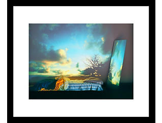 Bed Mirror 33x43 Framed Photo, , large