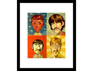 The Beatles 28x32 Framed Art, , large