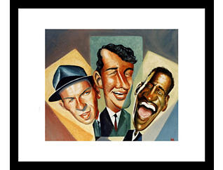 The Rat Pack 18x22 Framed Art, , large