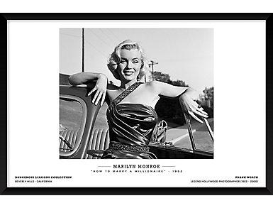 Monroe 25x37 Framed Poster, , large