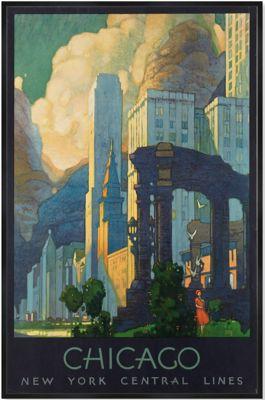 Chicago Skyline Framed Print Art Van Furniture