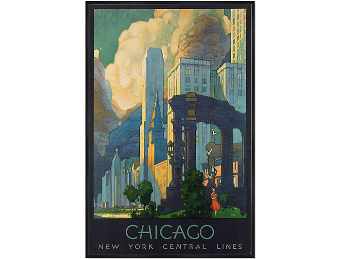 Chicago Skyline Framed Art, , large