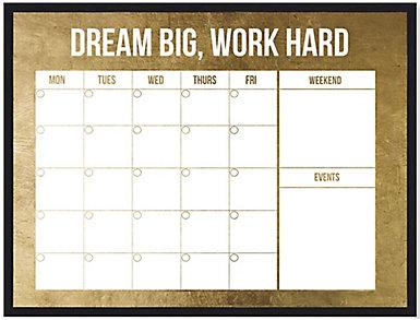 Work Hard Monthly Whiteboard, , large