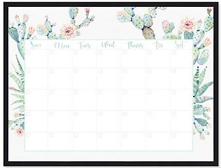 Cactus Monthly Whiteboard, , large