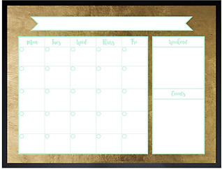 Golden Monthly Whiteboard, , large