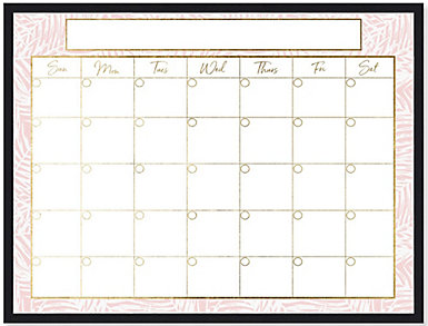 Summer Pink Monthly Whiteboard, , large