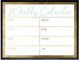 Golden Weekly Whiteboard, , large