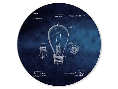 """24"""" Edison Lamp Circle Art, , large"""