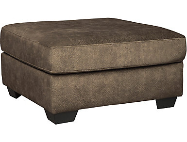 Afton Cocktail Ottoman, Brown, , large