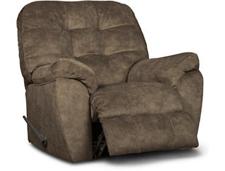 Afton Earth Rocker Recliner, Brown, large