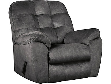 Afton Rocker Recliner, Granite, Grey, large