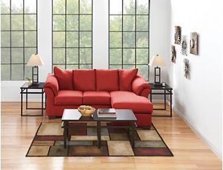 COLORS Sofa Chaise, Salsa, large