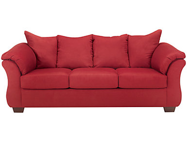COLORS Sofa, Salsa, Red, large