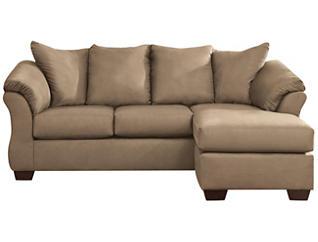 COLORS Sofa Chaise, Mocha, large