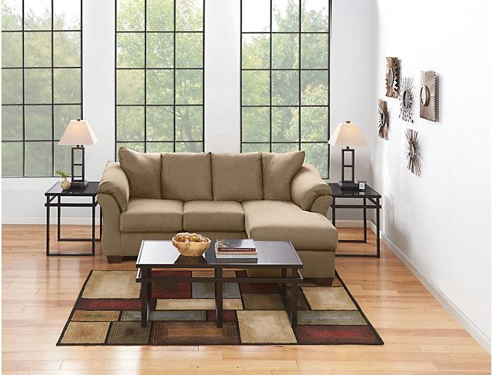 Enjoyable Colors Mocha Sofa Chaise Outlet At Art Van Dailytribune Chair Design For Home Dailytribuneorg