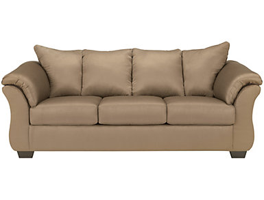 COLORS Sofa, Stone, Brown, large